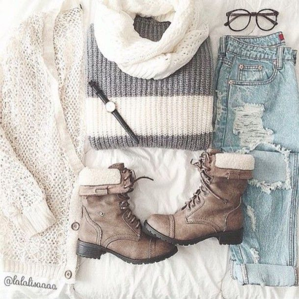 dress sweater winter outfits tumblr cute boots shoes jeans tumblr outfit