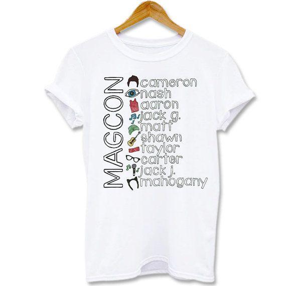 Funny shirt Screenprint T shirt Magcon boys collage name by Kaosan, $15.56