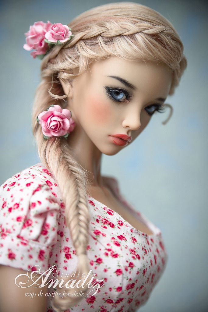 https://flic.kr/p/CpcT87 | Spring vintage | Natural angora BJD wig. Available for order on our Etsy: www.etsy.com/ru/listing/254223938/spring-vintage-hairstyl...