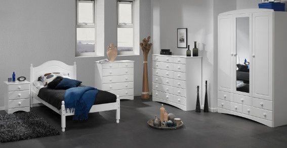 The Scandi white bedroom furniture set