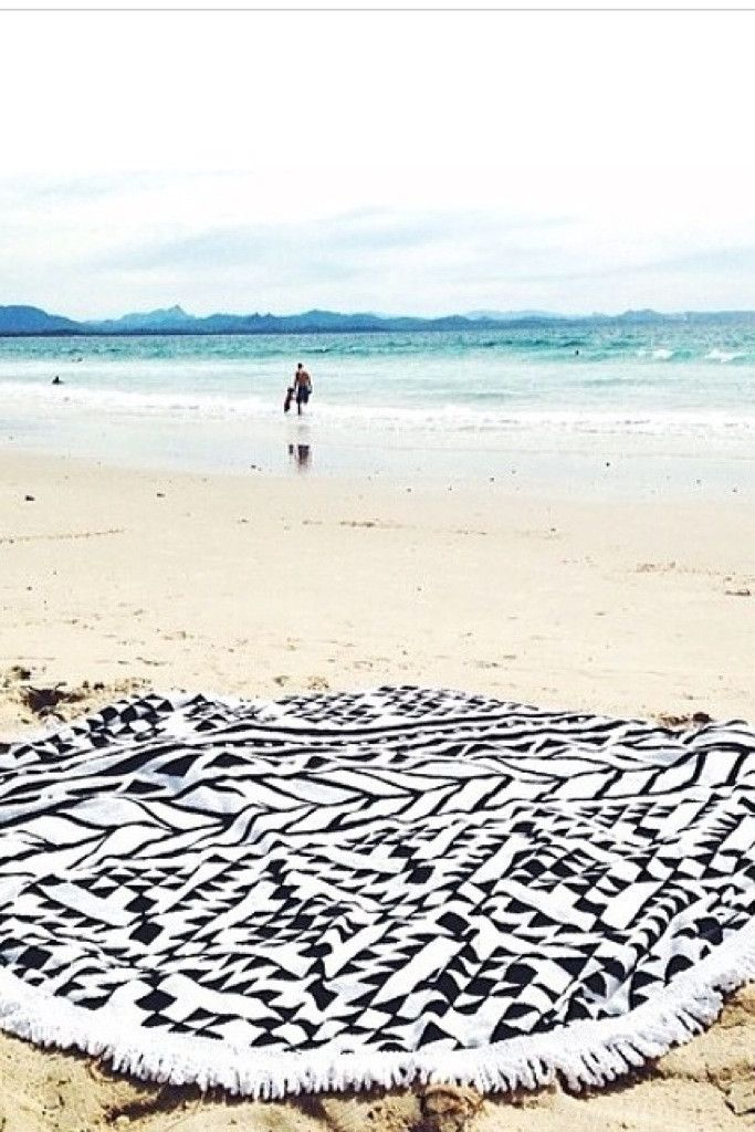 Funky pattern and round, yes please! >> The Beach People Aztec Round Towel Available NOW