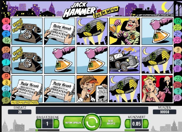 Machen Sie sich bereit für das außergewöhnliche Gewinnabenteuer! http://www.spielautomaten-kostenlos.com/spiele/slot-spiel-jack-hammer #jackhammer #slotspiel #onlinespielautomaten