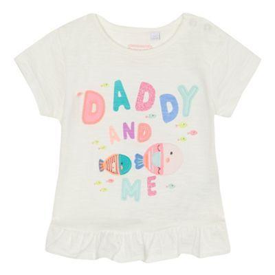 bluezoo Baby girls' white 'Daddy and me' slogan t-shirt | Debenhams