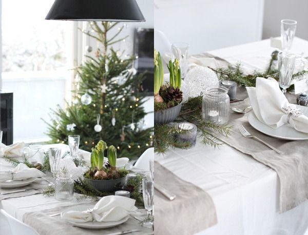 Natuurlijke kerst, decoreren voor kerstmis in een neutrale stijl. Naturel en natuurlijk met ingetogen kleuren, met materialen als dennenappels en kerstgroen.