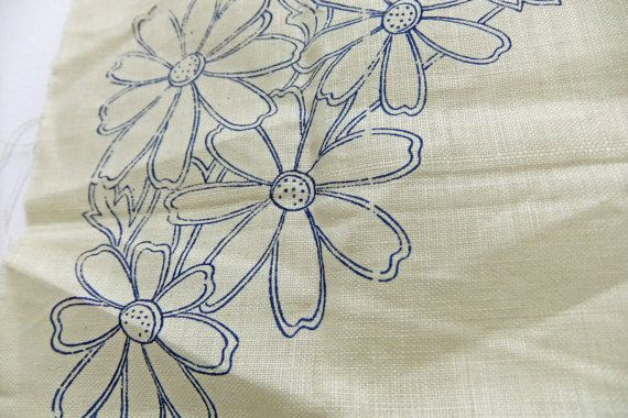 Vintage Embroidery Pattern Embroidery Stencil Cloth