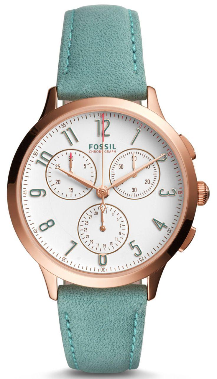 Fossil Women's CH3089 Abilene Sport Chronograph Teal Leather Watch