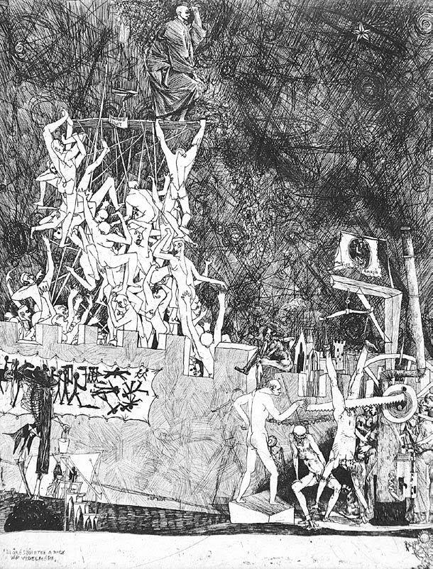 Kondor Béla - Jelenetek Dózsa György idejéből_6 / Dózsa-series (1956)