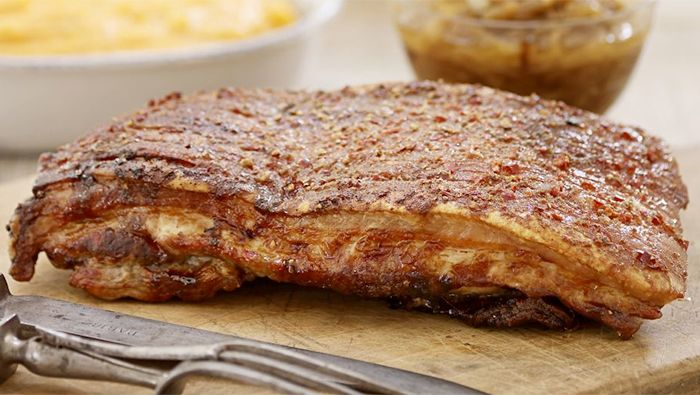 Crisp crunchy crackling and soft tender meat - it's hard to resist the appeal of slow-cooked belly pork.
