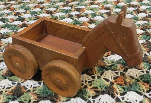 "This is a ""horse cart"" I made for my kids about 30 years ago."