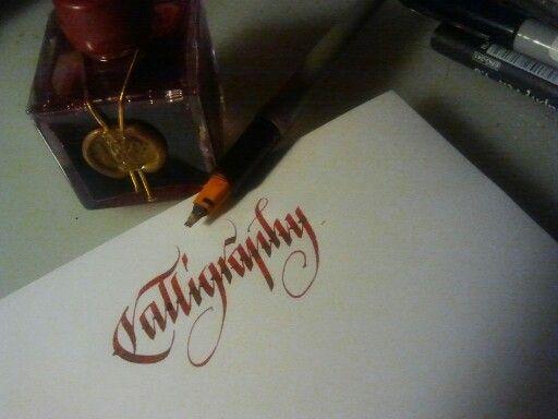 Calligraphy. J. Herbin Hematite Rouge.