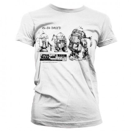 Star Wars R2-D2 Blueprint Dam T-Shirt - Roliga Prylar