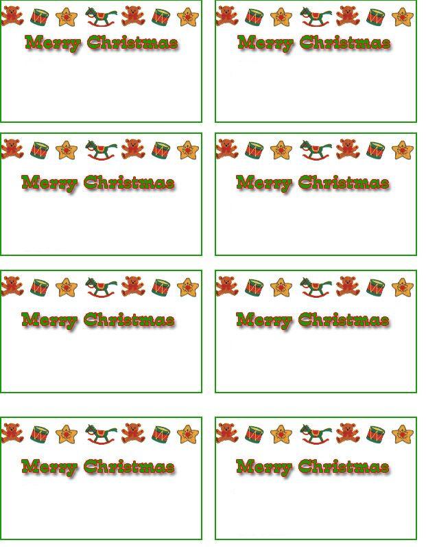 Free Printable Christmas Cards | free Christmas name tags, free printable holiday name tags