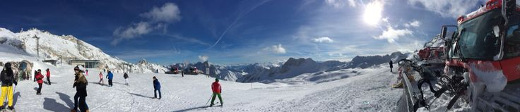 I love this panoramic photo. One of my faves from the trip. Zugspitze Summit, Ehrwald, Austria