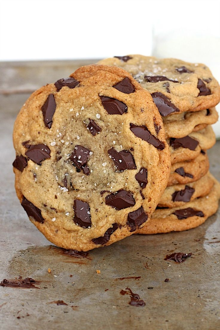 Sea Salt Chocolate Chunk Cookies | Recipe | Jars, Cookie recipes and ...