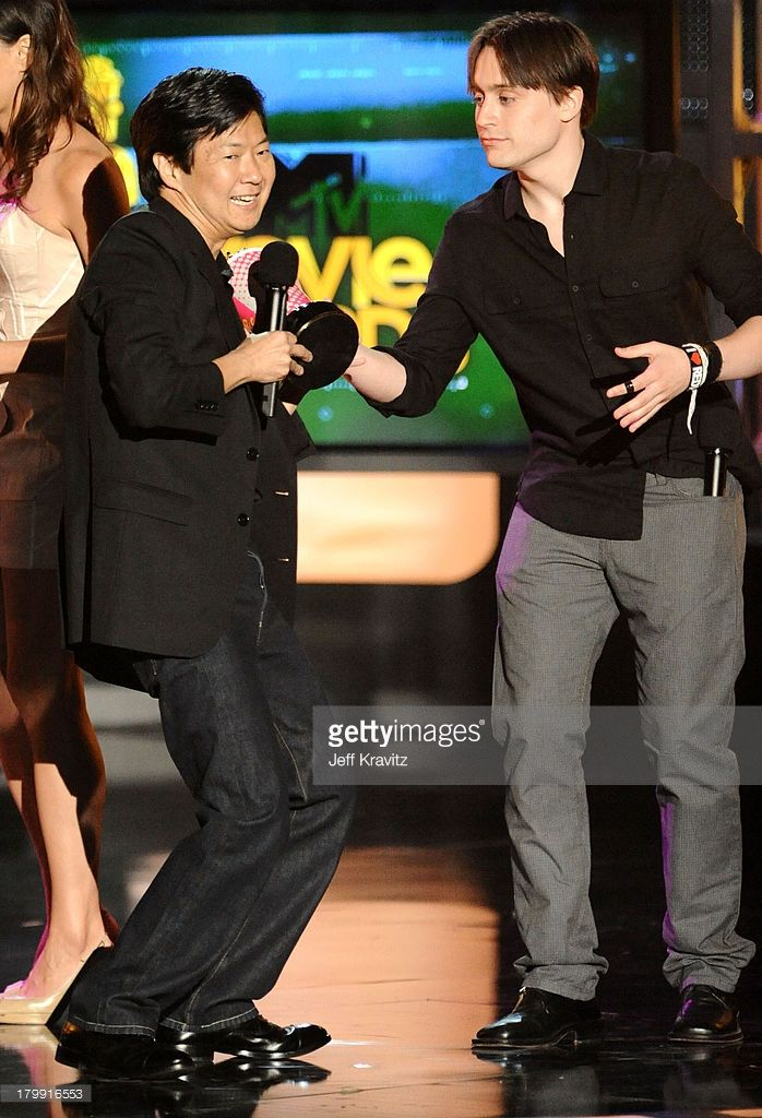 Ken Jeong and Kieran Culkin onstage at the 2010 MTV Movie Awards at Gibson Amphitheatre on June 6, 2010 in Universal City, California.