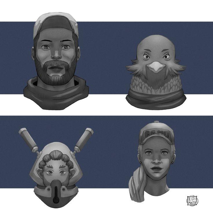 ArtStation - Faces, Euclides 'KidiMaster' Gomes