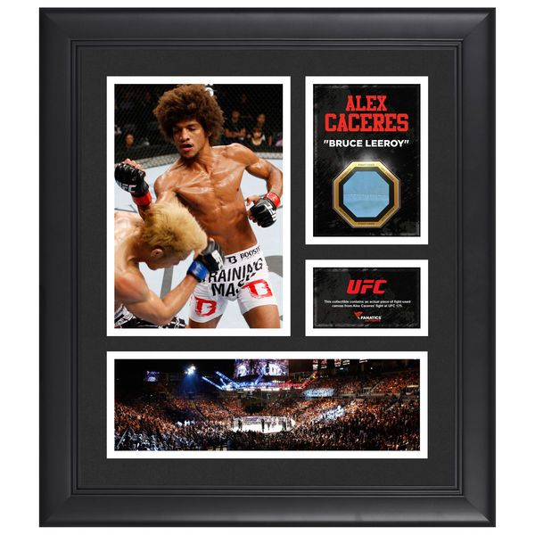 """Alex Caceres Ultimate Fighting Championship Fanatics Authentic Framed 15"""" x 17"""" Collage with Piece of Match-Used Canvas from UFC 175 - $79.99"""