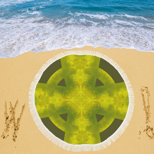 "Jade Celtic Cross Mandala Circular Beach Shawl 59""x 59"" #beachshawl #Reiki #mandala #kaleidoscope #heartchakra #crystals #celticcross #green #jade #goodluck #luck * 13.21 Oz. Made of polyester 95%, spandex 5%, easy to clear. * Lightweight, Sunscreen and could be folded away compactly. * Can be used as Beach Throw, Beach Wrap-around, Bed Throw, Table Throw etc. * Economic and Elegant, Perfect for Holiday Gifting Purpose. * Gentle hand wash separately in cold water. * Sized in 59""(L) x 59""(W)."