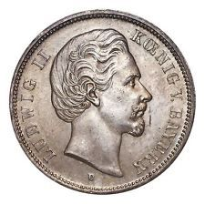 Germany: Bavaria Ludwig II Silver Coin 1874-D 5 Mark