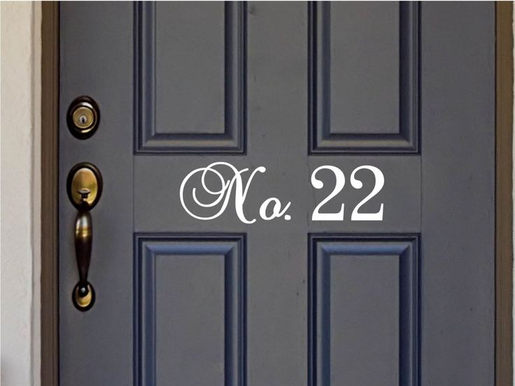 "Fancy Script House Number - Vinyl Lettering Word Door or Wall Art Home Decal - Cursive Style - 10.25-22.2"" W x 3.8"" H - pinned by pin4etsy.com"