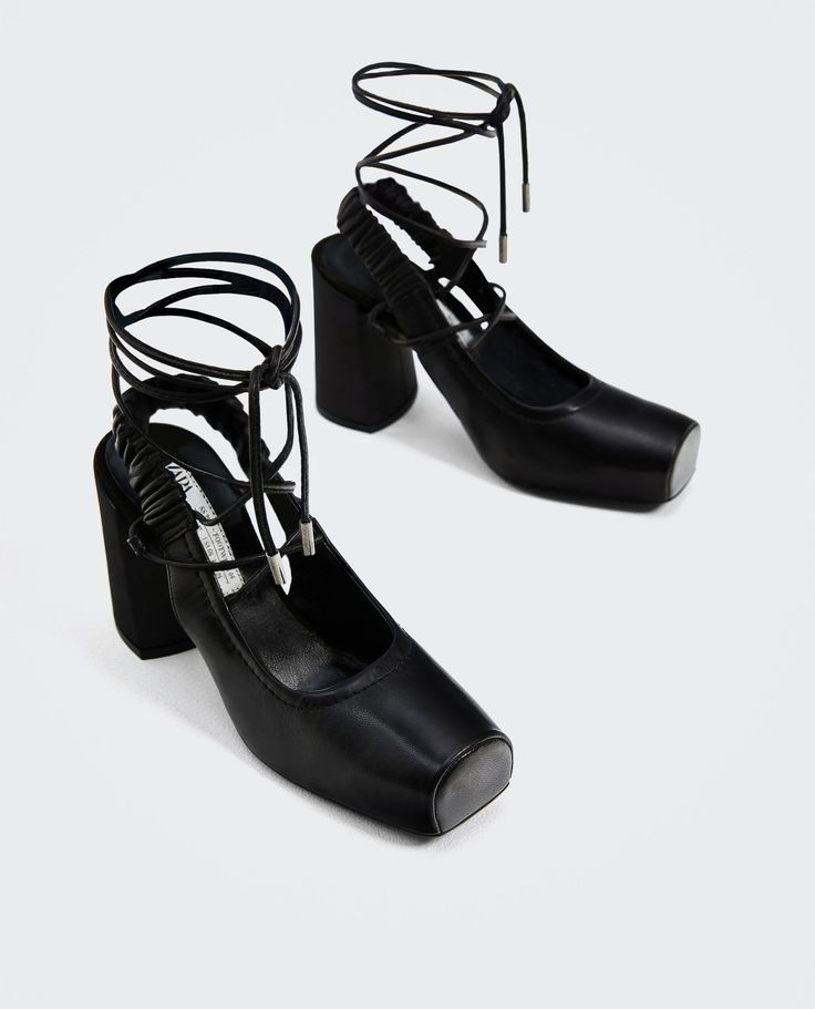 Image 5 of TIED HIGH HEEL SLINGBACK SHOES from Zara