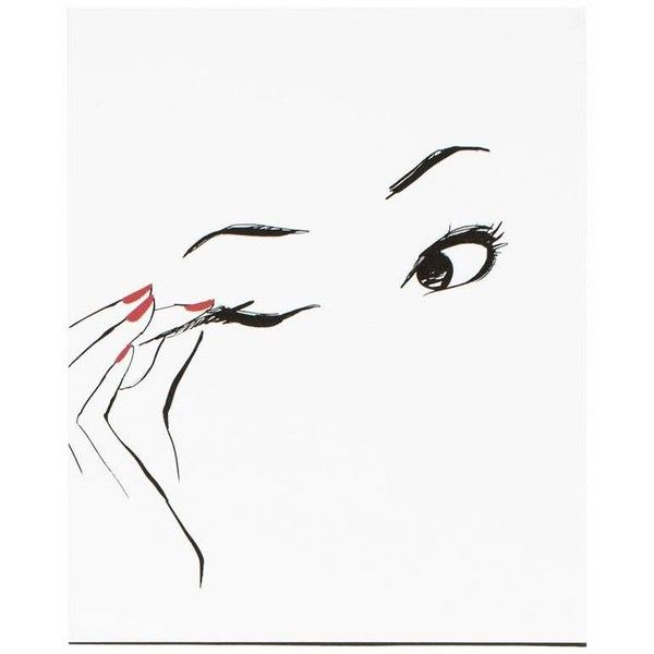 Garance Dor� Goods Eyeliner Poster Black, White, Red By ($24) ❤ liked on Polyvore featuring home, home decor, wall art, posters, black poster, black white poster, red black wall art, black home decor and black wall art