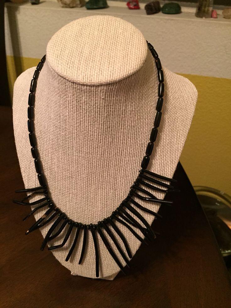 Black Coral Necklace.