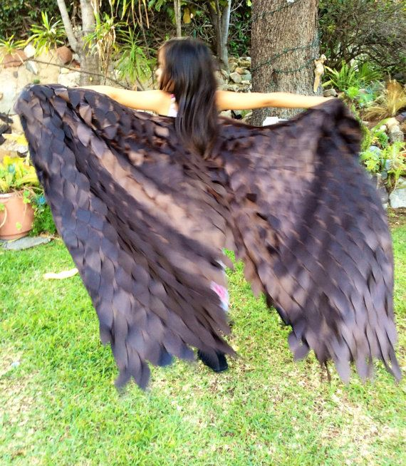Brown Maleficent Costume Wings Young Maleficent by flyingkiss, $40.00