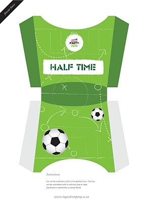 soccer food boxes - free printables