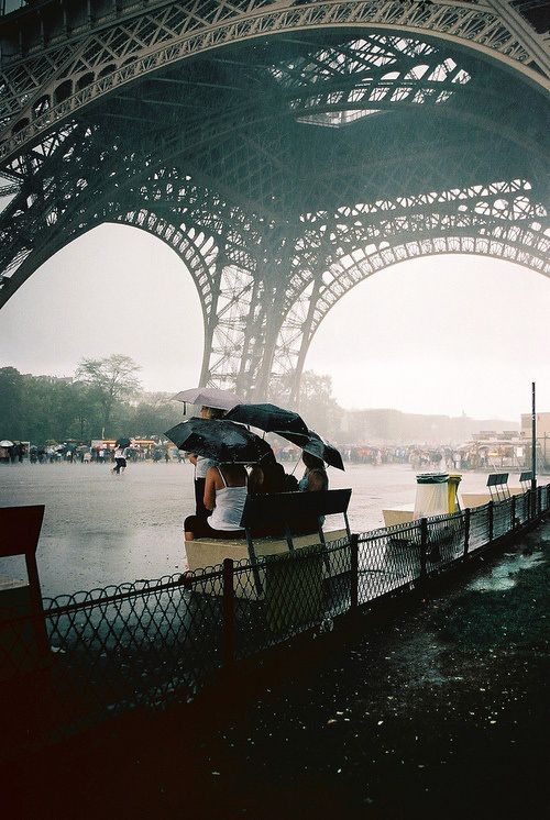 it was a rainy day when we visited the eifel tower