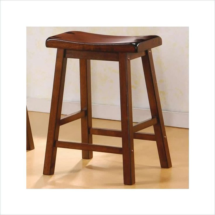 coaster 24 inch wooden bar stool in walnut set of 2 - Saddle Stools