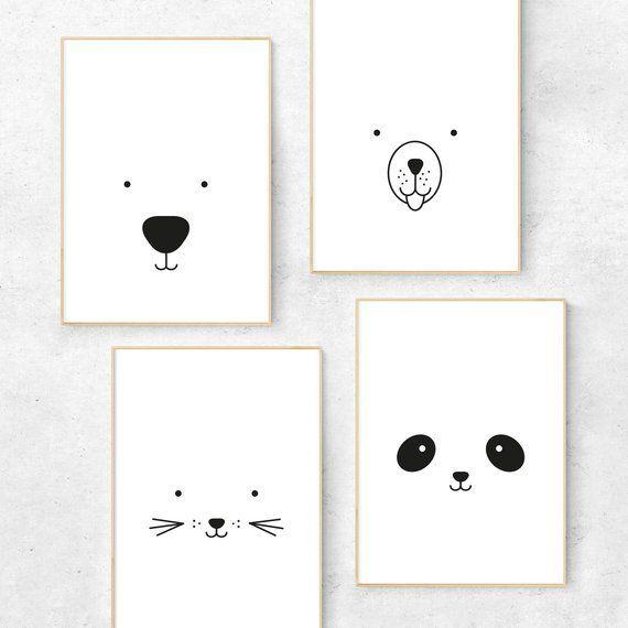 Panda Panda Print Panda Kinderzimmer Kunstdruck / Etsy