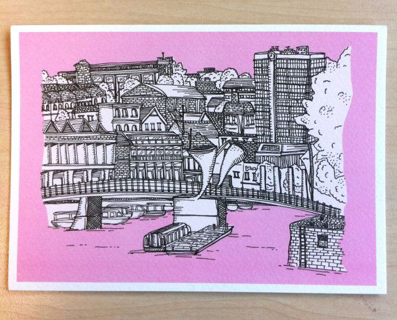 Bristol Harbourside card by BernysPlace on Etsy