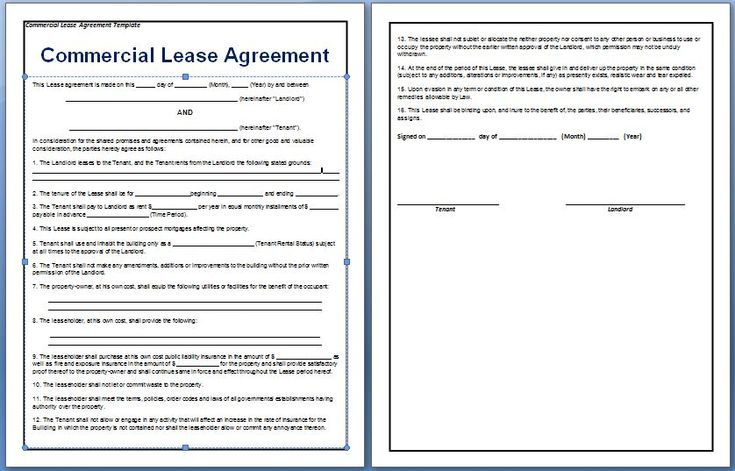 A contract between a tenant and a landlord for the rental for Lease agreement for office space template