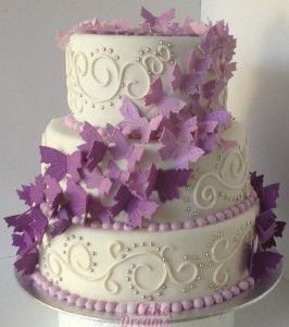 Wedding Cake Papillons Cakedreams