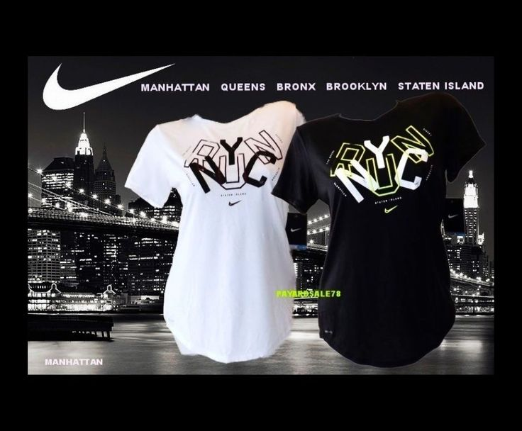 NEW WOMEN'S NIKE RUN NYC T-SHIRT THE NIKE TEE MARATHON RACE #Nike #ShirtsTops