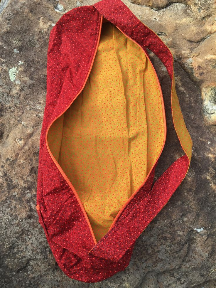 Handcrafted yoga mat bags