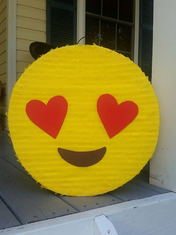 Emoji Party Supplies.  Emoji Pinata.
