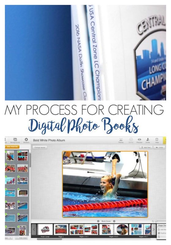 A step by step tutorial of making a digital photo book from Refined Rooms