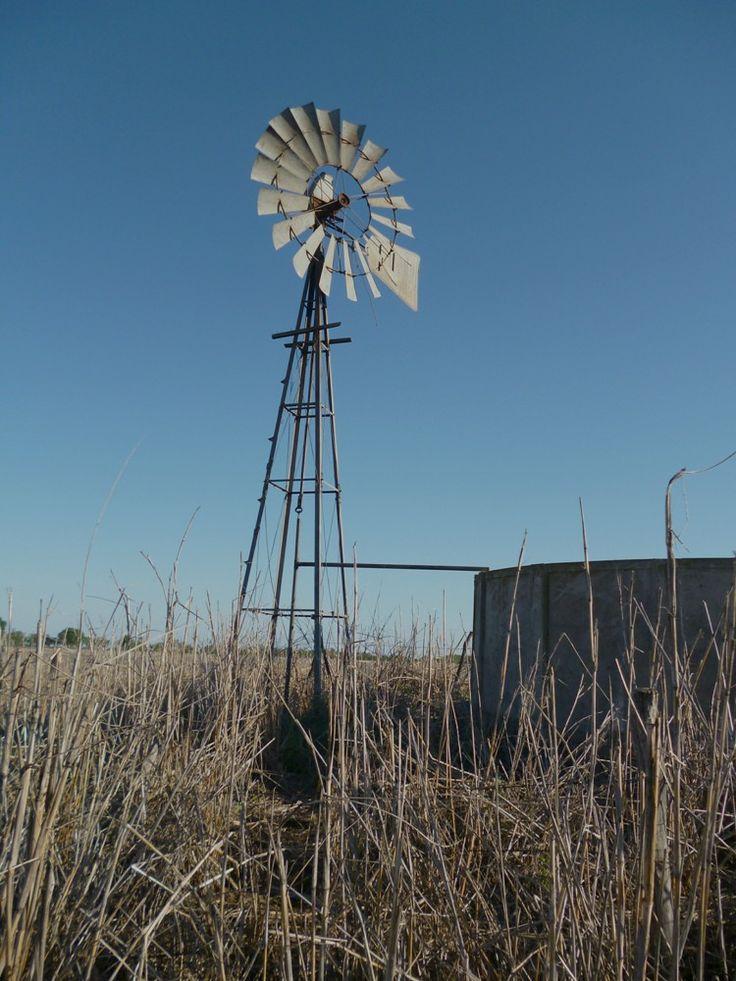 Un molino de viento para extraer agua subterr nea para el - Molino de trigo ...