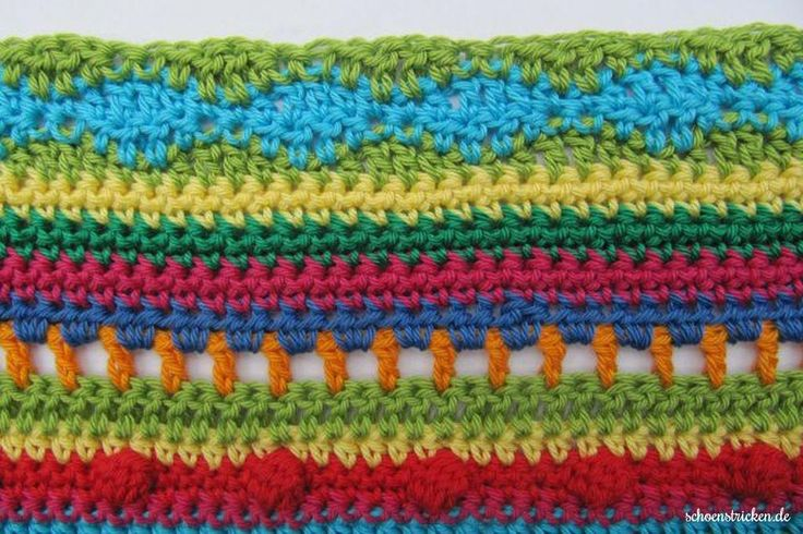 Crochet Along Regenbogen Babydecke Teil 6