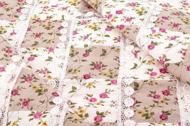 Льняное одеяло для девочки #linen #quilt #patchwork #forgirl