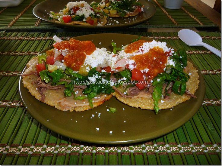 Recetas de Sopes, Pellizcadas,Chalupas, Huaraches.  ANTOJITOS MEXICANOS