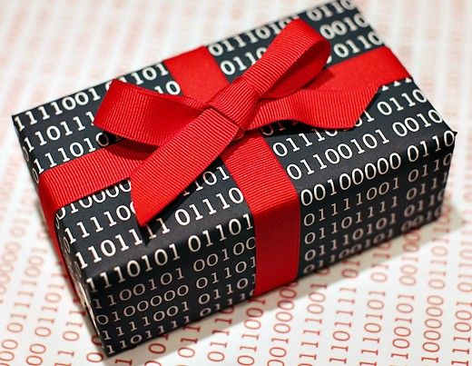 Geeky Valentine's Day Gift Wrapping Idea