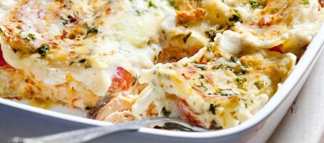 Omdat mijn dochter 'rode' lasagne niet lekker vindt, wilde ik iets uitproberen met 'witte' saus en vis ... dit is super gelukt, want de schaal was schoon leeg ....
