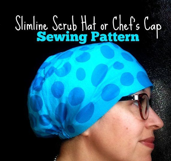 Scrub Hat Sewing Pattern Diy Scrub Hat Chef S Cap Pdf