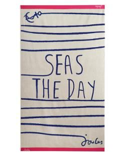 Seas the Day Beach Towel from Joules. Perfect for a summer getaway.