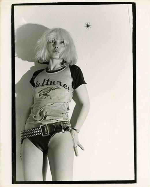Debbie Harry, © Chris Stein, 1976 © PUNK: An Aesthetic edited by Johan Kugelberg and Jon Savage, Rizzoli, 2012