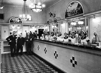 The Black & White 4d Milk Bar in Martin Place was Sydney's first milk bar. It was opened by Greek Immigrant Joachim Tavlaridis in November 1932