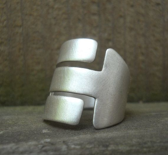 Modern adjustable ring sterling silver MADE by Q2jewelrycollection, $120.00